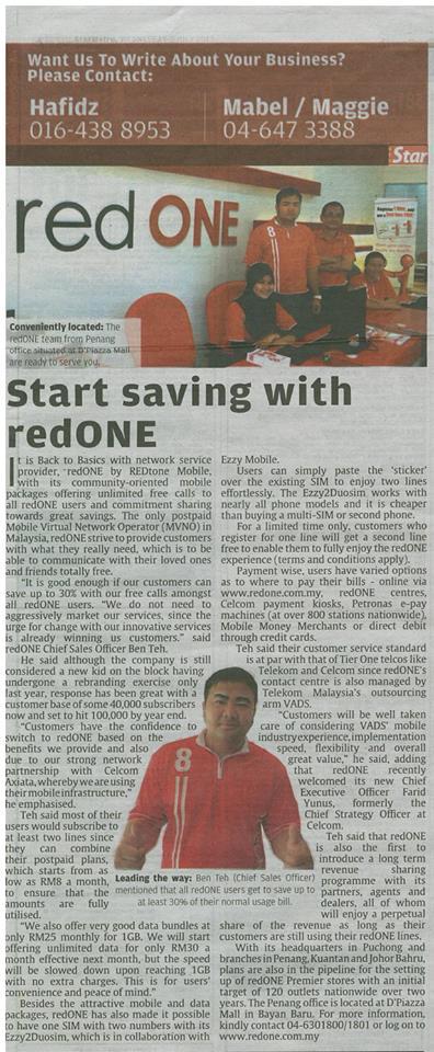 Start Saving with redONE