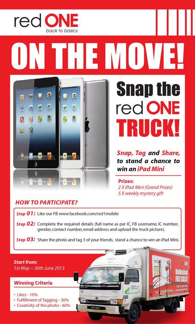 redONE truck – Spot & Win