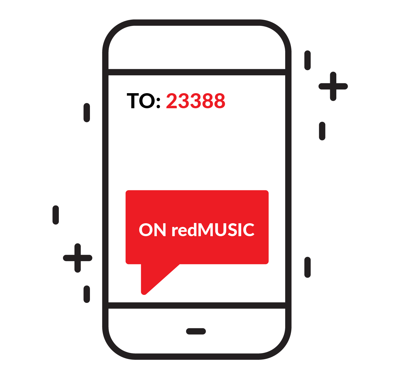 OPTION 2 Step 1 Send a SMS with the code ON redVIDEO to 23388