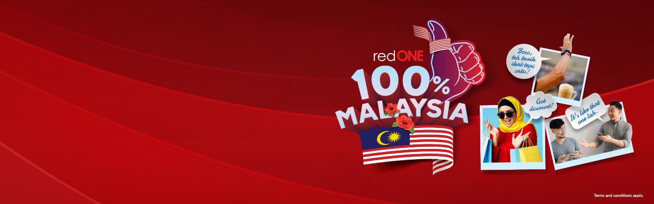 redONE 100 Peratus Malaysia,