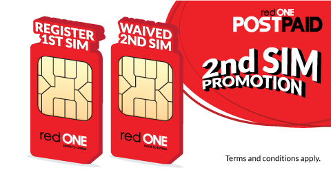Switch to redONE Postpaid Amazing 48+ or Amazing 28 