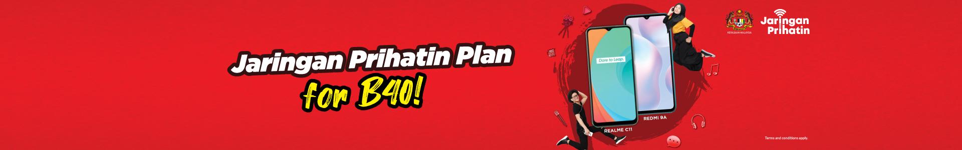 Get the exclusive redONE Jaringan Prihatin plan now!