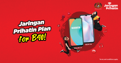 Jaringan Prihatin Plan for B40!, Get a FREE Smartphone with up to RM300 Subsidy