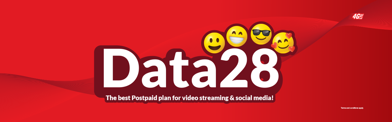 Get 22GB data 4G LTE and unlimited free calls among redONE Postpaid.