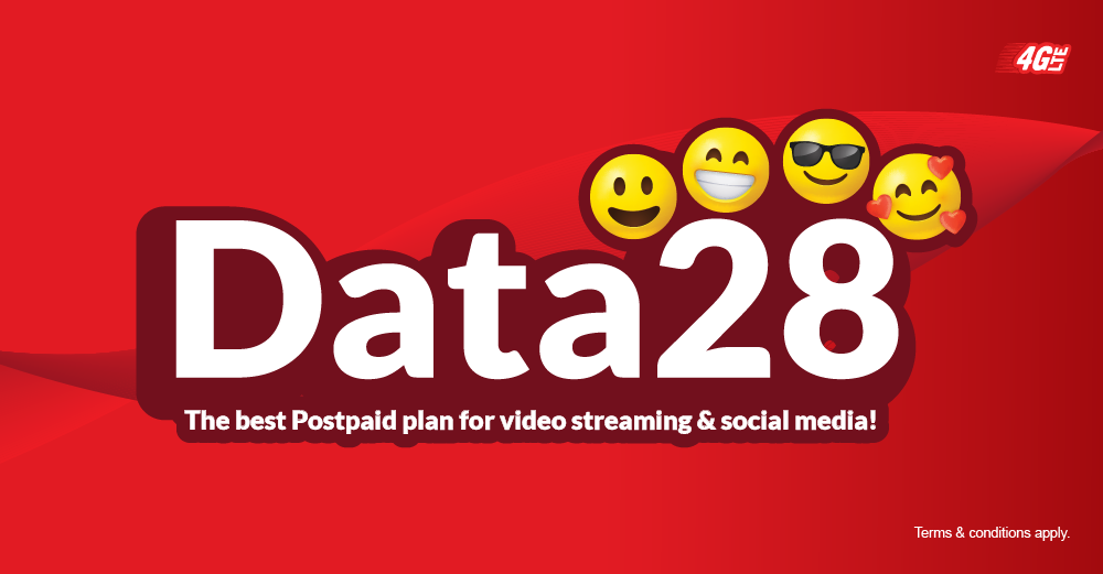 Exclusive plan for video and social media lovers!, Get 22GB data 4G LTE and unlimited free calls among redONE Postpaid