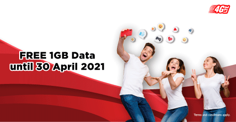 FREE 1GB DATA EVERY DAY!<br />