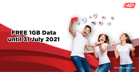 FREE 1GB Data Every Day!<br /> ,