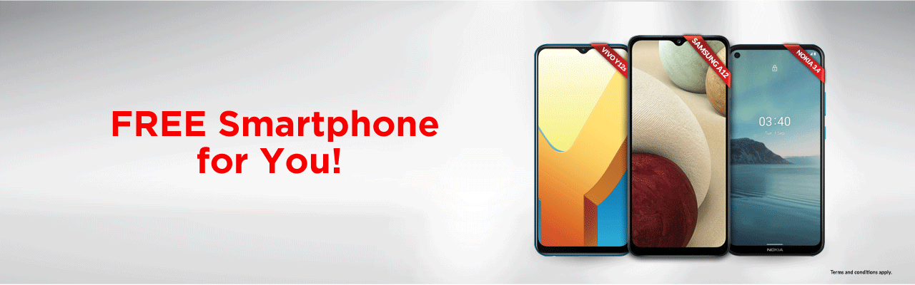 Get a FREE 4G smartphone when adding on a supplementary line