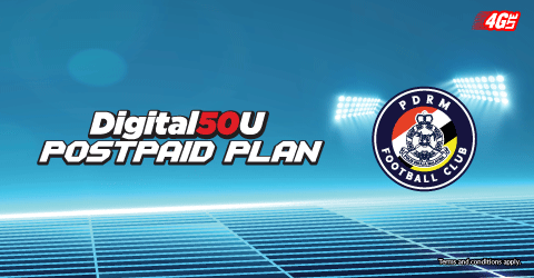 Enjoy unlimited data & calls while supporting PDRM FC!