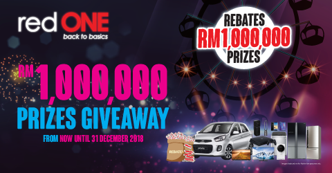 RM 1,000,000 Prizes Giveaway From now until 31 December 2018