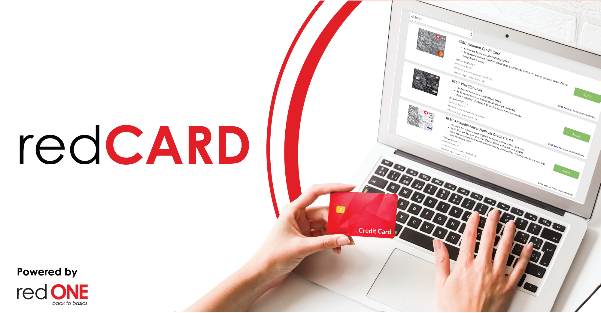 Sign up for a credit card and get cashback today.