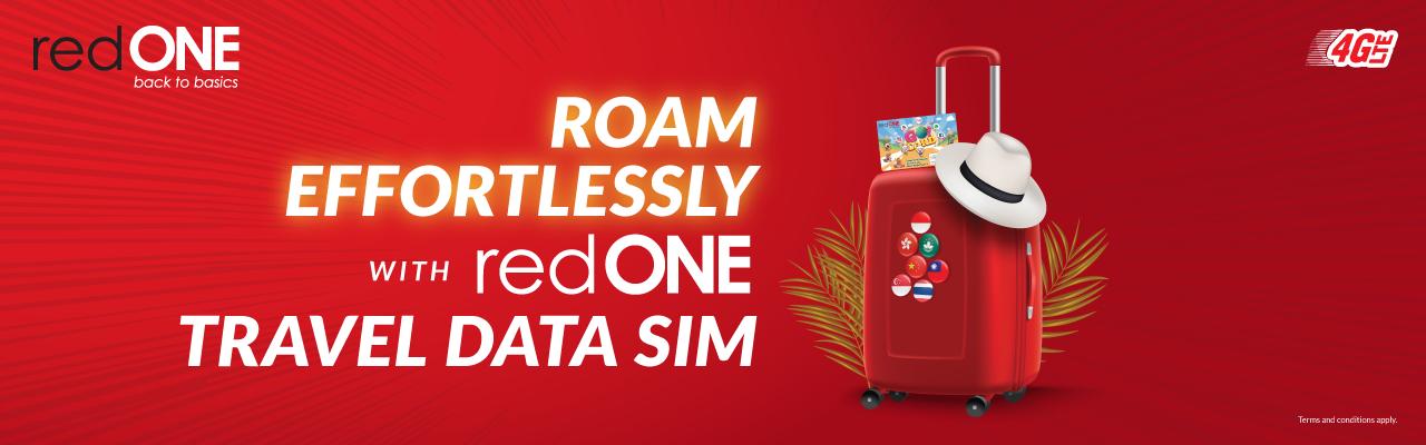ROAM EFFORTLESSLY with redONE Travel Data Sim