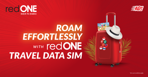 ROAM EFFORTLESSLY with redONE Travel Data Sim