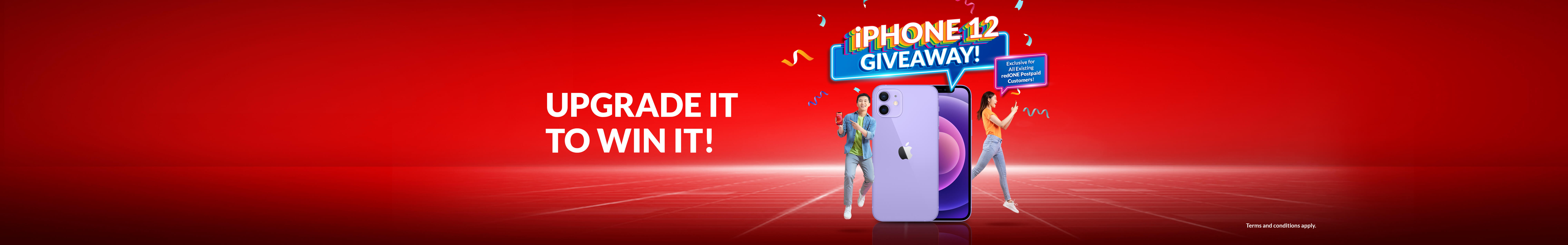 Win an iPhone 12 monthly from now until December 2021!