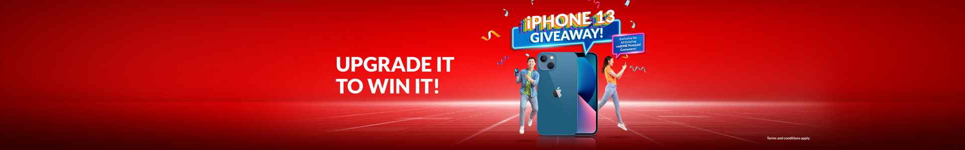 Win an iPhone 13 monthly from now until December 2021!