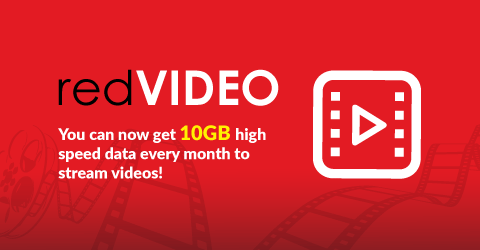 You can now get 10GB high speed data every month to stream videos!