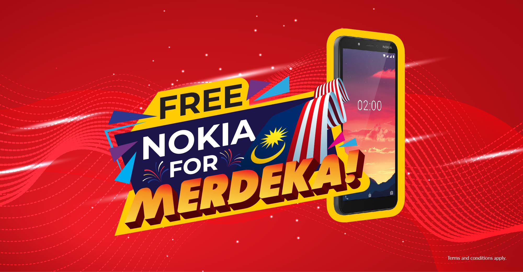 FREE Nokia for Merdeka!, 63 smartphones to be won!
